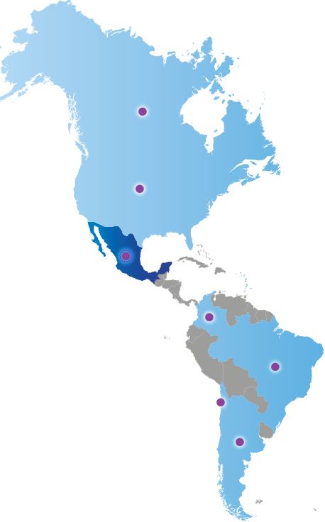 Map of Americas