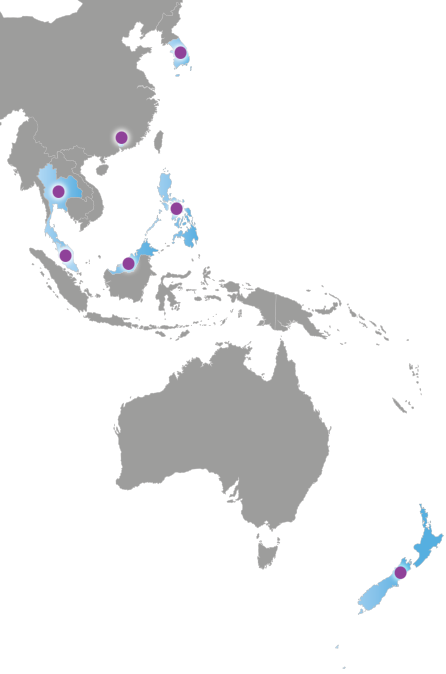 Map of Asia & Oceania